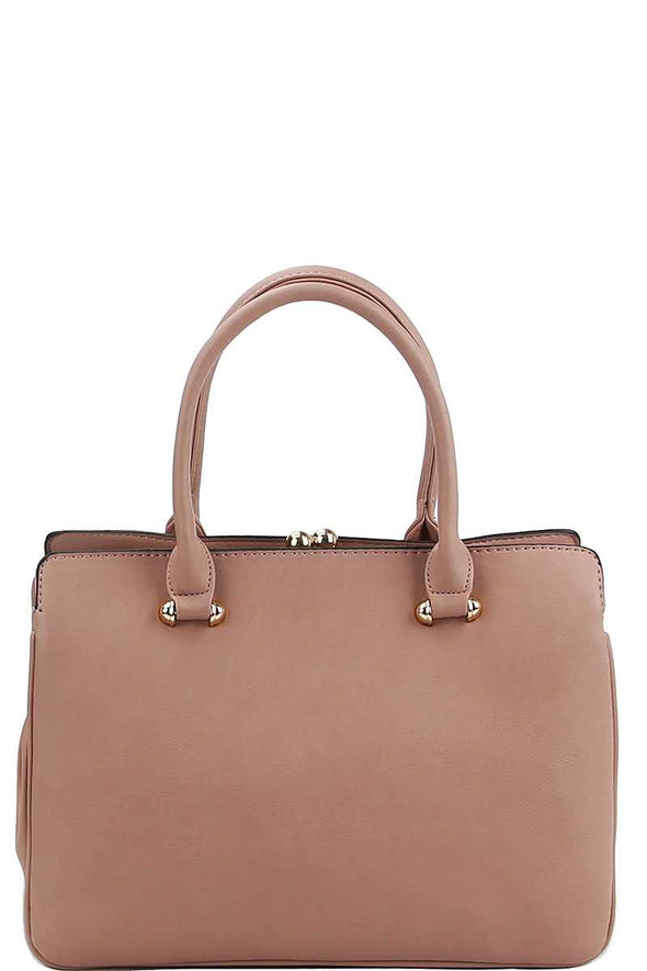 2in1 Cute Sleek Satchel With Matching Wallet - Babe Shoppe