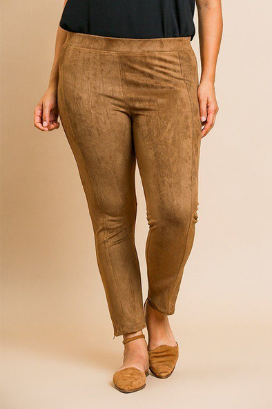 Suede Skinny Stretch Pants - Babe Shoppe