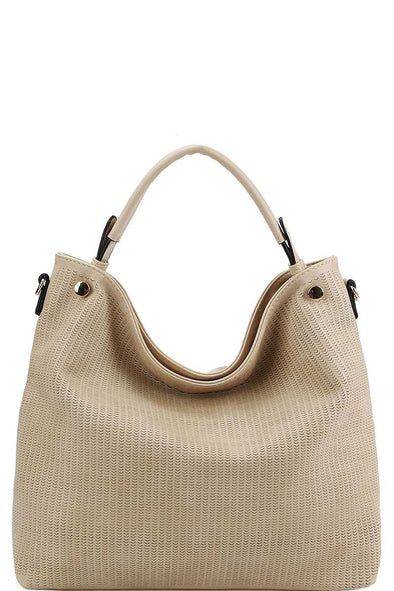 Stylish Modern Mesh Front Hobo Bag With Long Strap - Babe Shoppe