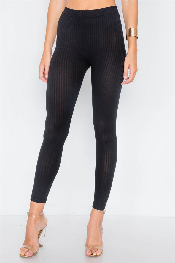 Ribbed Crop Tube Top & Ankle Legging Set - Babe Shoppe