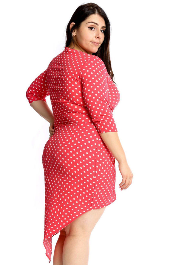Polka Dots Chiffon Wrap Dress - Babe Shoppe