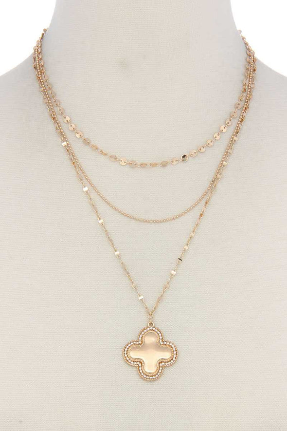 Cross Charm Y Shape Layer Necklace - Babe Shoppe