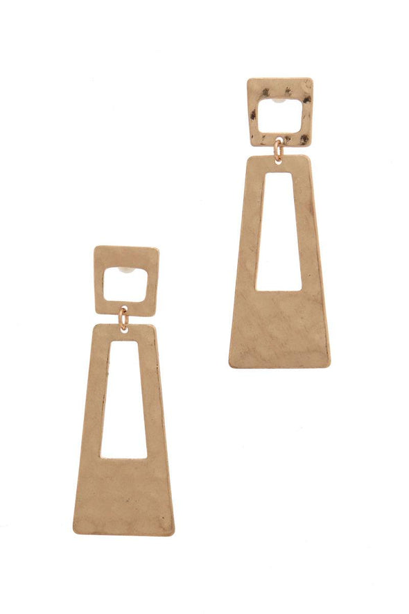 Cut Out Rectangular Shape Post Earring - Babe Shoppe