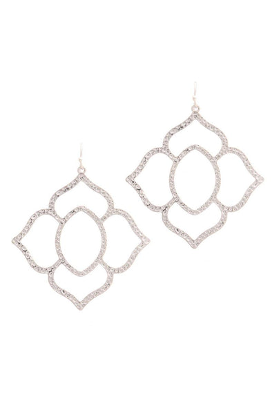 Hammered Pointed Moroccan Shape Drop Earring - Babe Shoppe