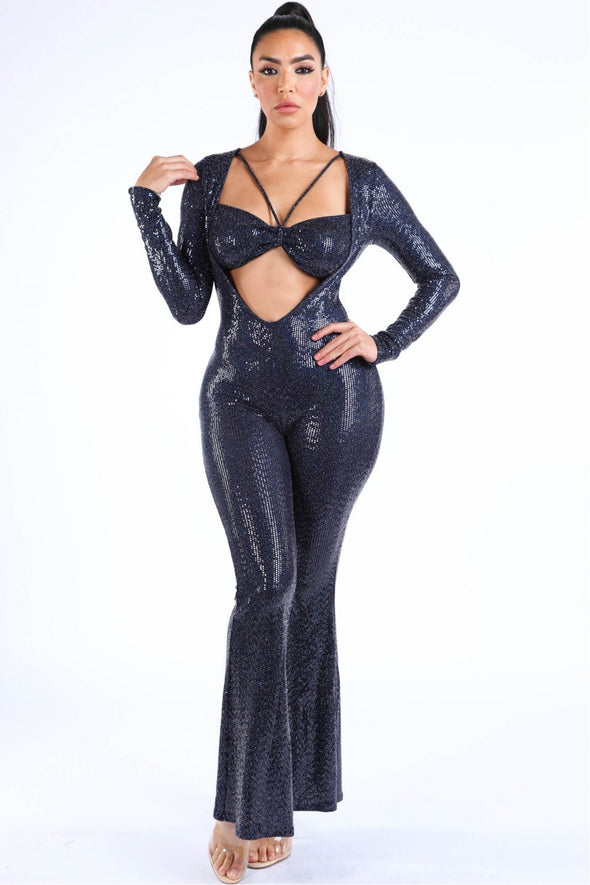 Bikini Top Long Sleeve Jumpsuit - Babe Shoppe