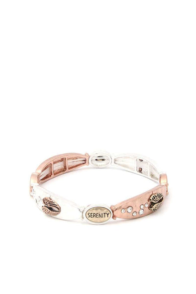 Serenity Metal Stretch Bracelet - Babe Shoppe