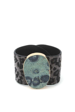 Animal Print Pattern Wrap Bracelet