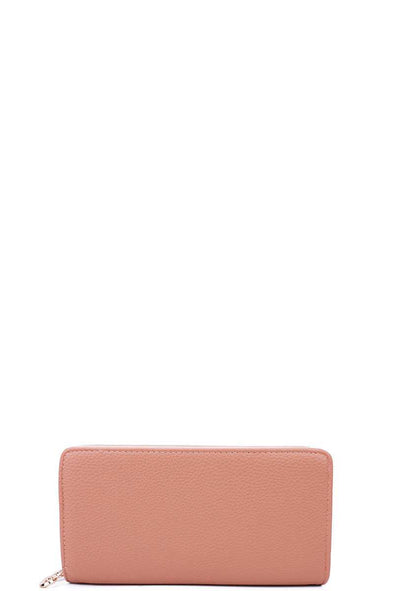 Fashion Solid Color Double Side Long Wallet With Hand Strap - Babe Shoppe