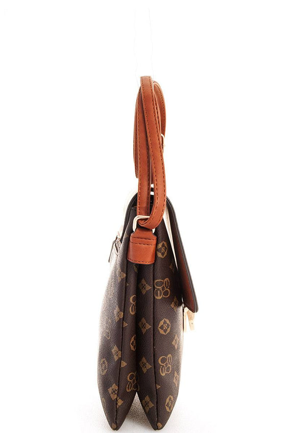 Alba Charisma Modern Pattern Crossbody Messenger Bag - Babe Shoppe