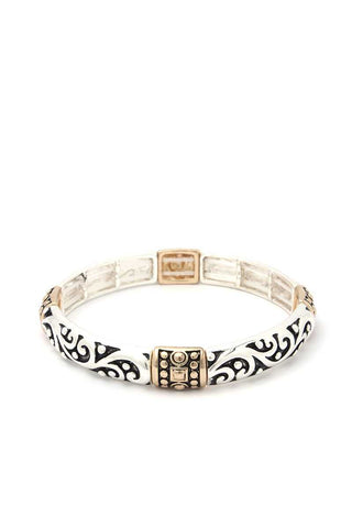 Filigree Metal Stretch Bracelet
