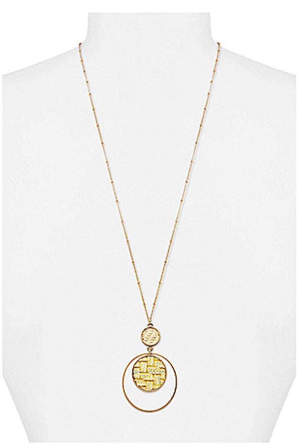 Modern Double Layer Pendant Necklace - Babe Shoppe