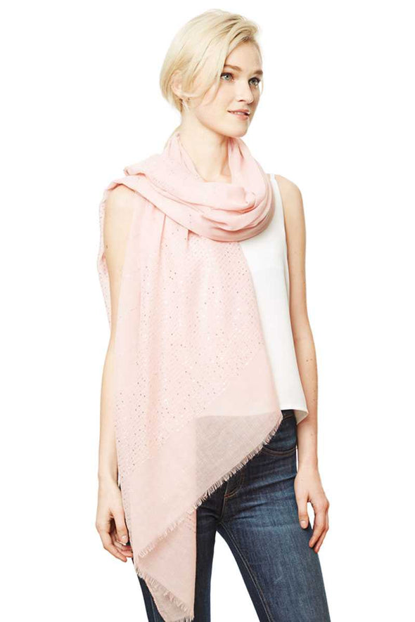 Solid Lurex Scarf - Babe Shoppe