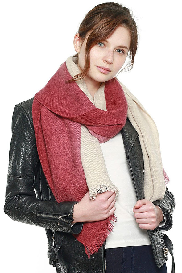 Two Tone Gradation Scarf - Babe Shoppe