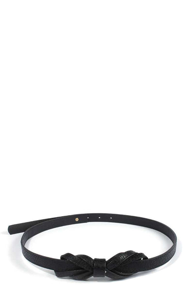 Bow Pu Leather Belt - Babe Shoppe