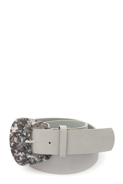 Aceate Buckle Pu Leather Belt - Babe Shoppe