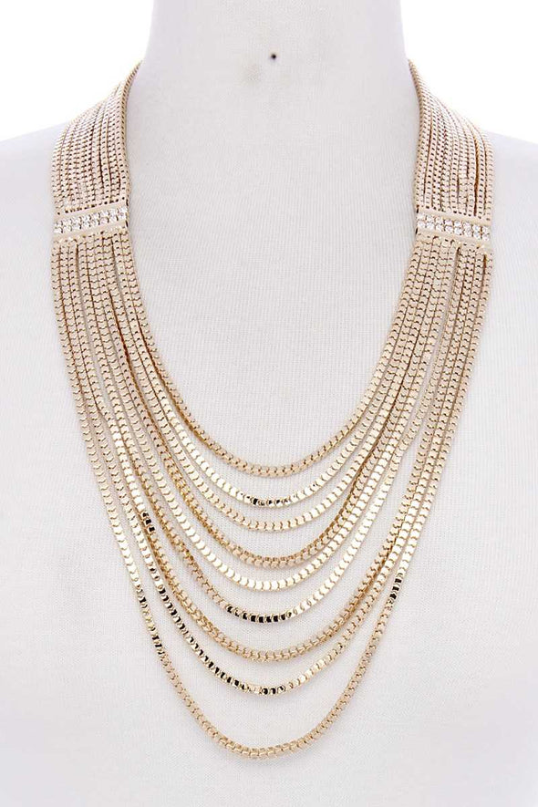 Layer Metal Necklace - Babe Shoppe