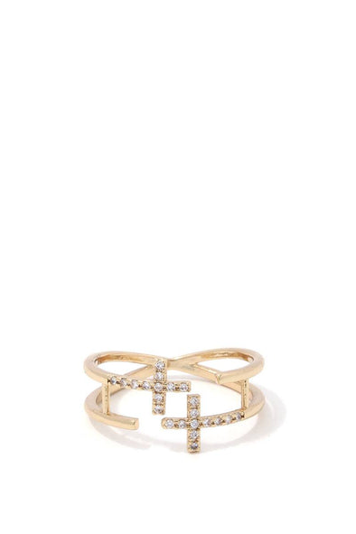 Double Cross Ring - Babe Shoppe