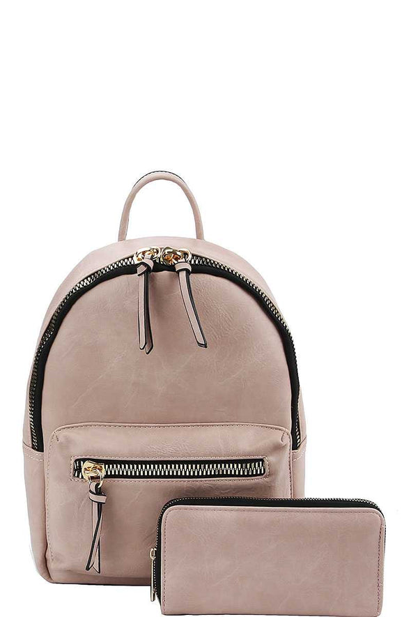 2in1 Fashion Cute Stylish Backpack With Matching Wallet - Babe Shoppe