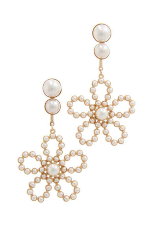 Flower Shape Post Drop Earring - Babe Shoppe
