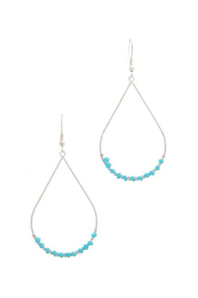 Beaded Teardrop Shape Earring - Babe Shoppe