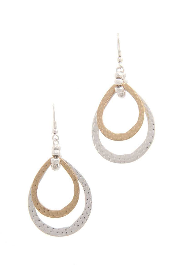 Double Teardrop Shape Earring - Babe Shoppe