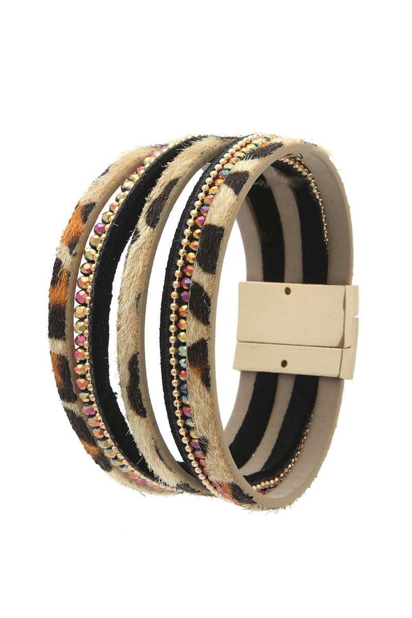 Beaded Multi Strand Magnetic Bracelet - Babe Shoppe