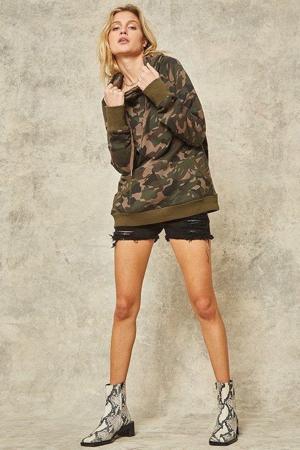 A Camouflage Hoodie - Babe Shoppe