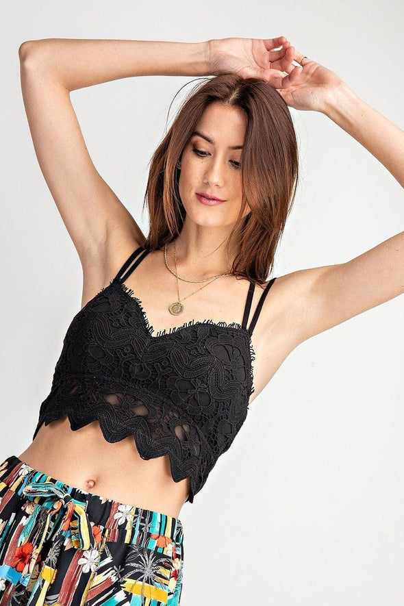 Crochet Laced Bralette Top - Babe Shoppe