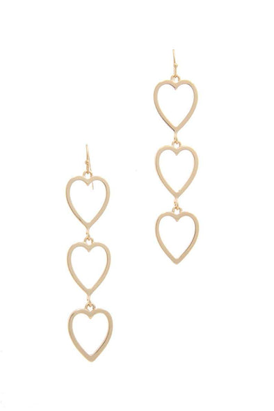 Cut Out Heart Shape Dangle Drop Earring