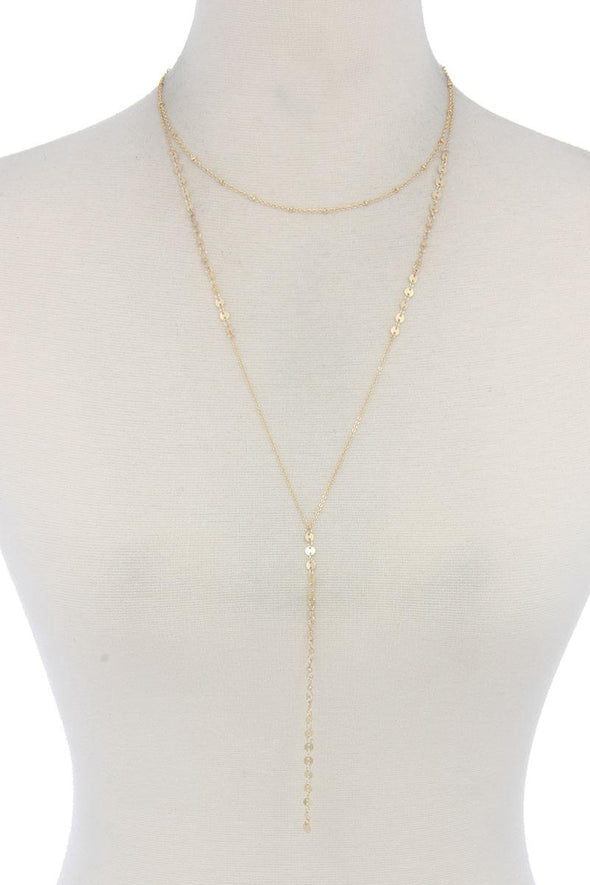 Metal Y Shape Necklace - Babe Shoppe