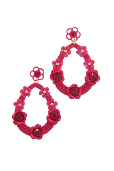 Floral Post Drop Earring - Babe Shoppe