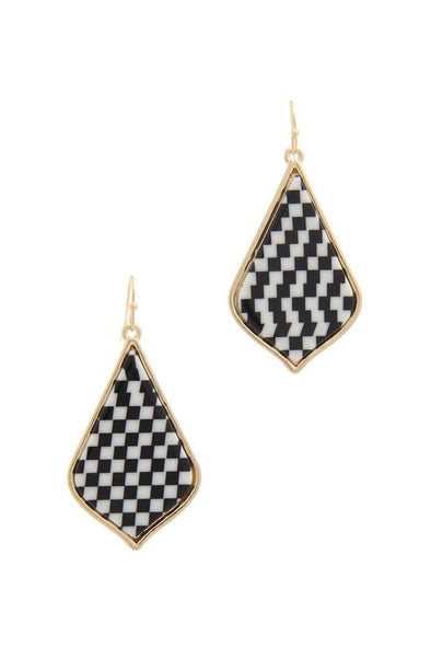 Pattern Drop Earring - Babe Shoppe