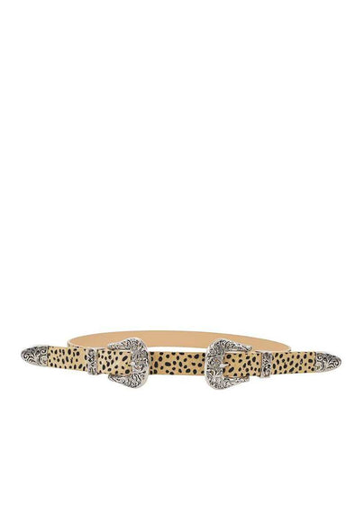 Trendy Stylish Leopard Double Buckle Belt - Babe Shoppe