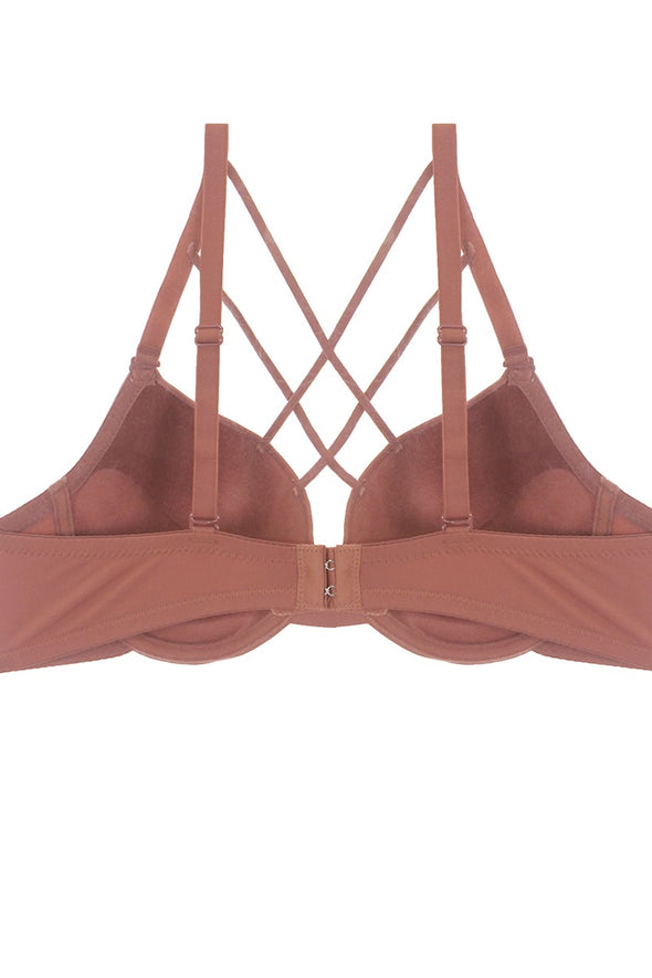 Plunge Cage Front Bra - Babe Shoppe