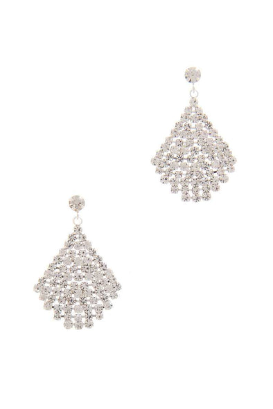 Rhinestone Drop Earring - Babe Shoppe