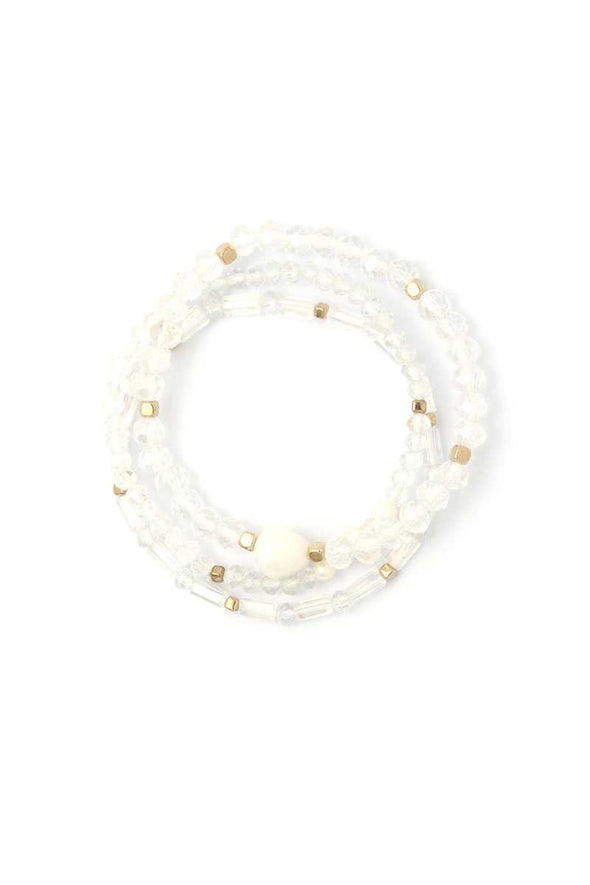 Fresh Water Pearl Beaded Stackable Bracelet Set - Babe Shoppe