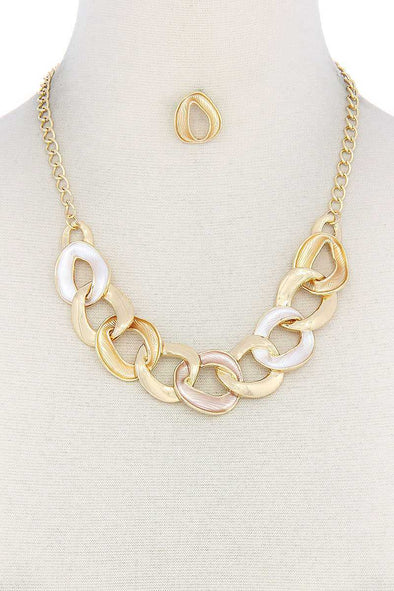 Circle Link Necklace - Babe Shoppe
