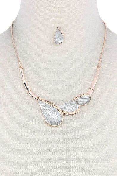 Two Tone Metal Necklace - Babe Shoppe