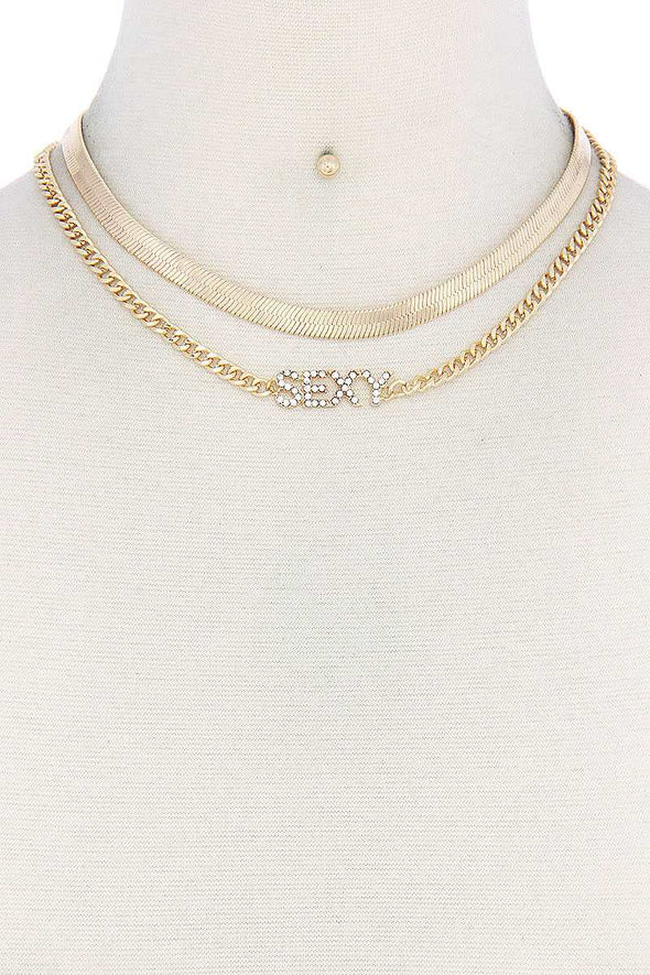Sexy Flat Snake Chain Necklace - Babe Shoppe