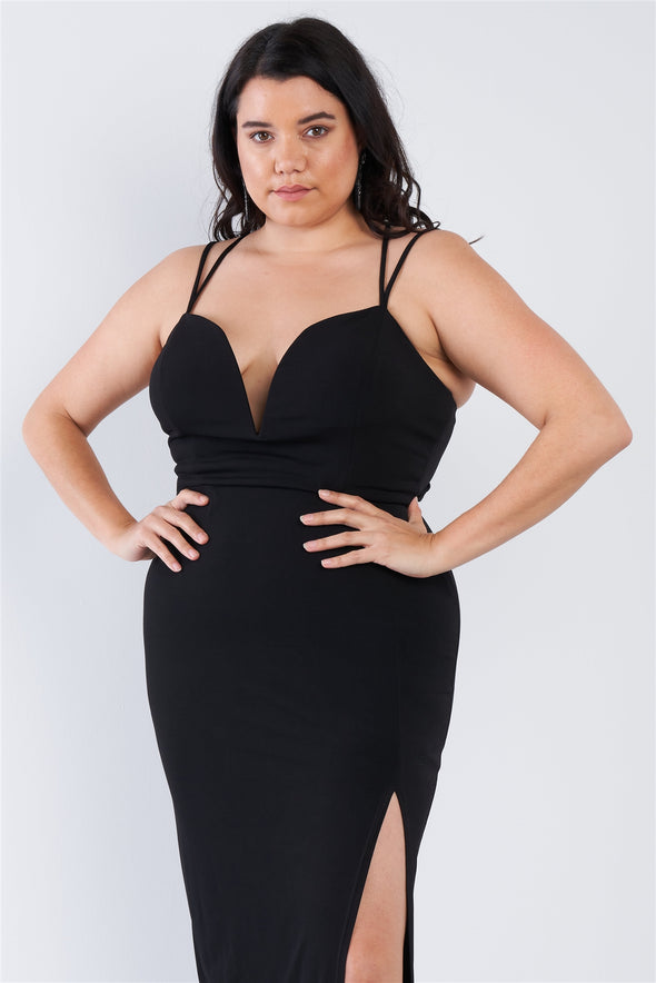 Plus Size Sexy Floor Length Dress - Babe Shoppe