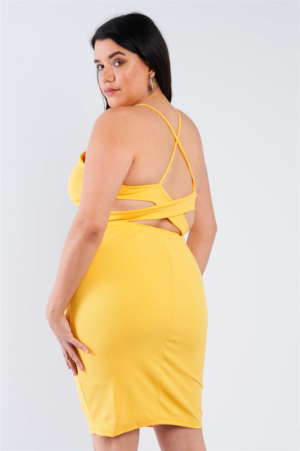 Plus Size Basic Bodycon Dress - Babe Shoppe