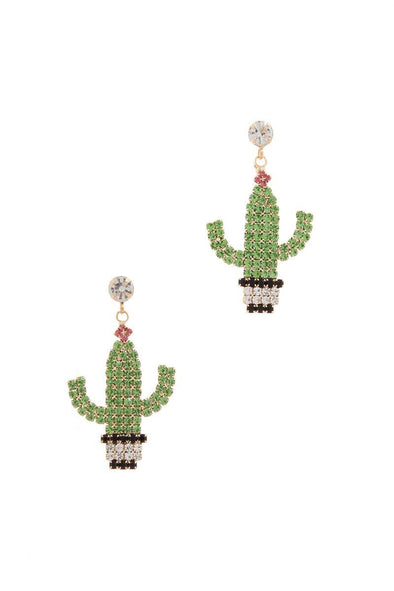 Cactus Post Drop Earring - Babe Shoppe