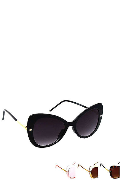 Stylish Fashion Butterfly Big Eye Sunglasses - Babe Shoppe