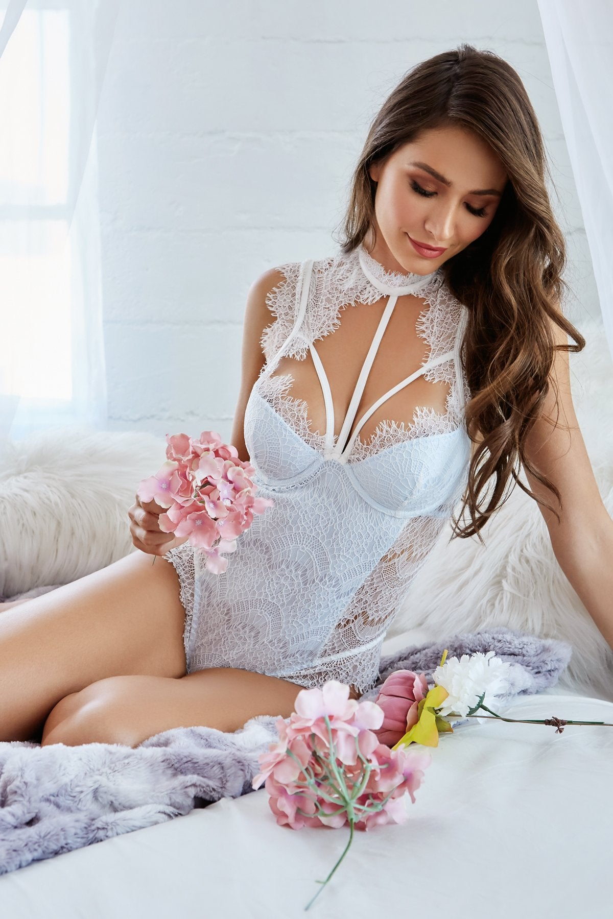 Collar bridal bodysuit