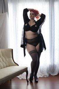 Plus size gray stockings
