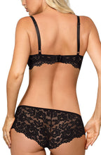 Exclusive black lace push up bra