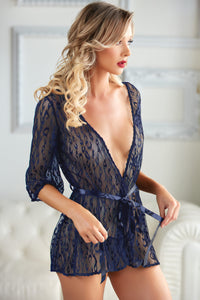Passionate and glamororus mesh robe