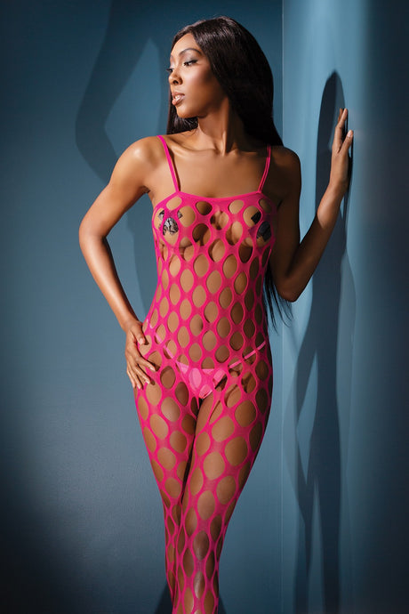 Pink bodystockings