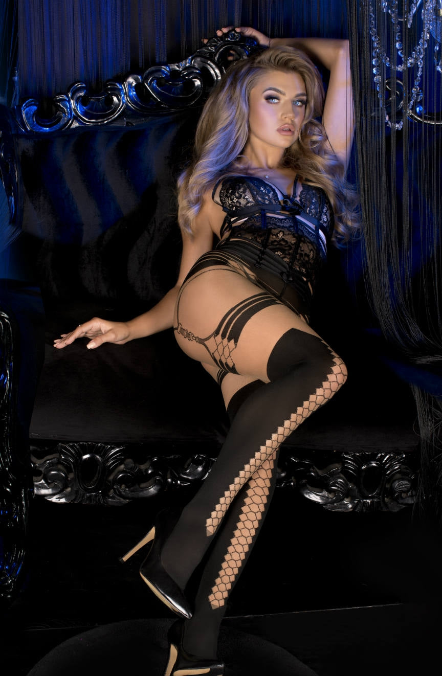 Gorgeous skin pantyhose with stunning pattern