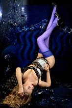 Stunning stockings in sapphire blue